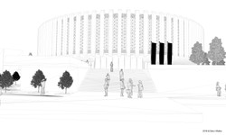 Exhibition Centre wireframe