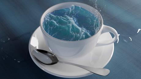 Ocean in a cup