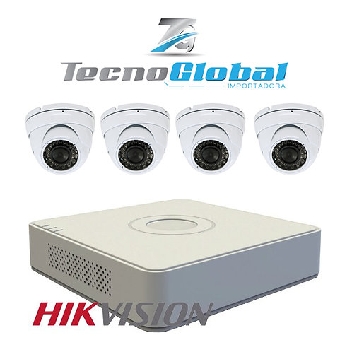 Kit 4 Camaras DVR hikvision HD