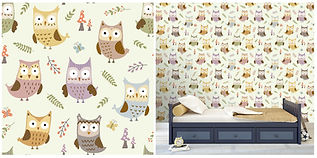 wall paper for kids owls