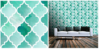 wallpaper geometric shapes mosaic