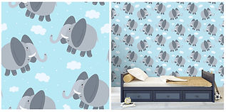 wall paper for kids with elephants
