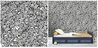 wall paper for kids pattern sea black