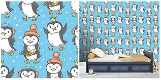 wall paper for kids penguins