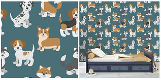 wall paper for kids with puppies
