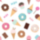 wallpaper kids ice-cream donuts
