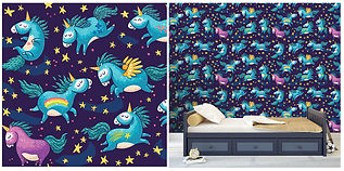 wall paper for kids with unicorns