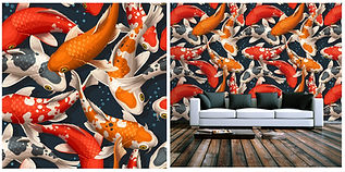 wallpaper containing exotic goldfish