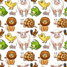 wall paper for kids sheep ducks frogs chickens snails