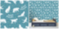 wall paper for kids bears foxes nighlife constellations