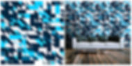 wallpaper geometric shapes pattern blue