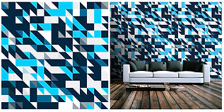 wallpaper geometric shapes pattern blue