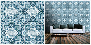 wallpaper geometric shapes mosaic blue