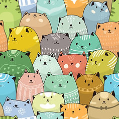 wallpaper for kids rooms containing cats