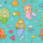 wall paper for kids mermaids jellyfish