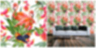 wallpaper containing exotic birds, flowers