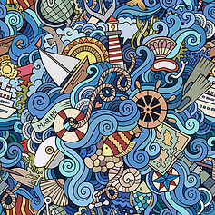 wall paper for kids ocean sea boats patterns