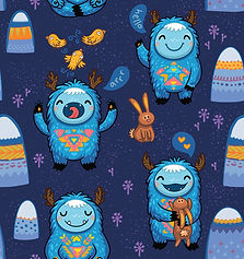 wallpaper, kids room, monsters, bunny