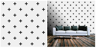 wallpaper geometric shapes black and white crosses
