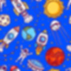 wallpaper for kids rooms with rockets and astronauts