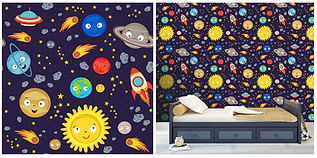 wall paper for kids with solar system