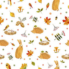 wallpaper for kids rooms with bunnies and hedgehogs