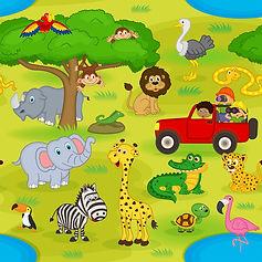 wallpaper for kids rooms safari