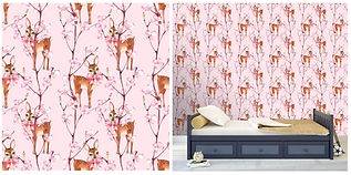 wall paper for kids with deers