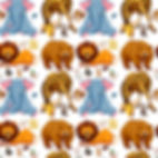 wall paper for kids giraffe elephants bears owls