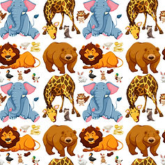 wall paper for kids giraffe elephants bears owls