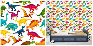 wall paper for kids with dinosaurs