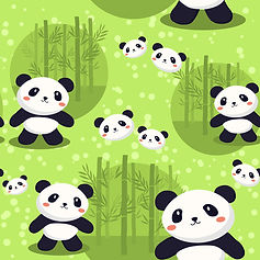 wallpaper for kids room with panda bears