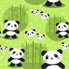 wallpaper for kids room with panda bears