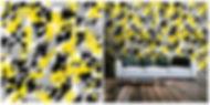 wallpaper geometric shapes pattern yellow