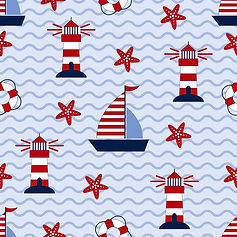 wall paper for kids boats sea lighthouses starfish
