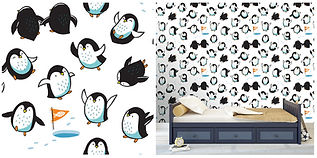 wall paper for kids with penguins