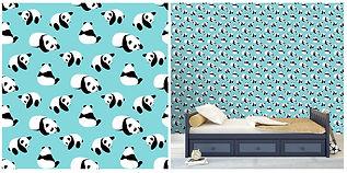 wall paper for kids panda bears