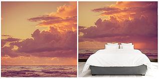 wallpaper seaview beach clouds