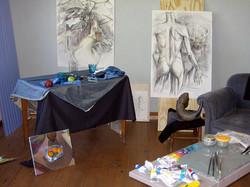 In the Studio - Drawings in progress