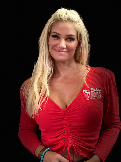 """""""Best of Show"""" Red Blouse"""
