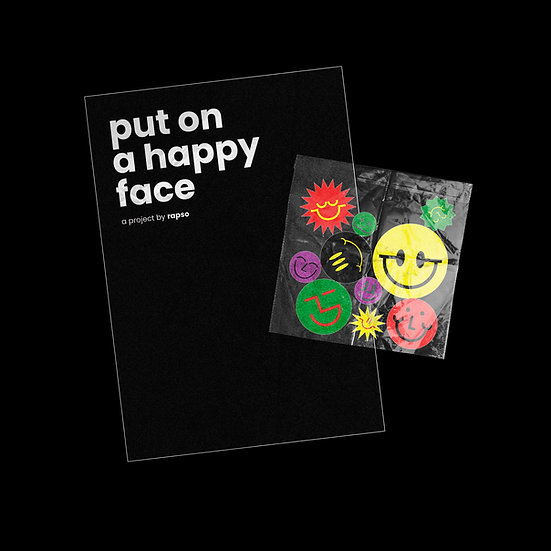 put on a happy face zine + stickers