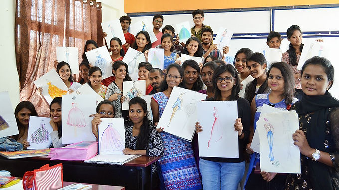 Fashion Designi Course | Best Fashin Designing Institutes in Bangalore | Students Showing Off Their Designs