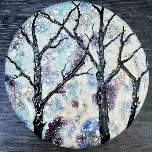 Moonrise Through Trees
