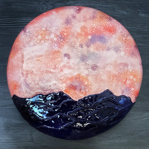 Pink Mountain Moonrise
