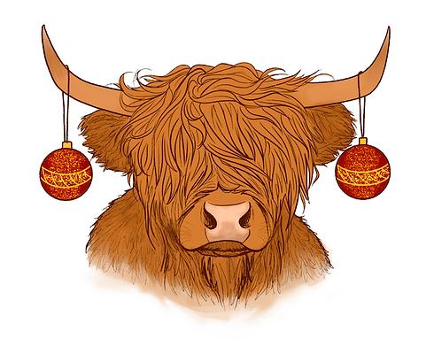 Jocasta Mann highland cow christmas.png