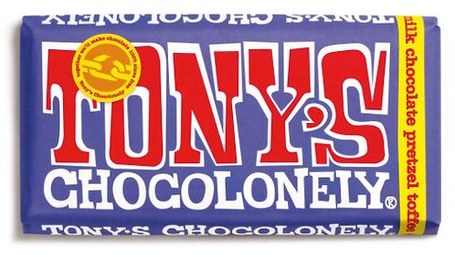 Tony's Chocolonely Dark Milk Pretzel Toffee 42%