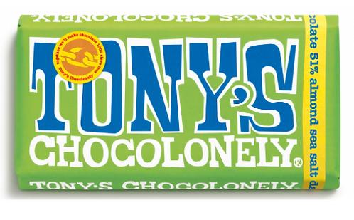 Tony's Chocolonely Dark Almond Sea Salt 51%