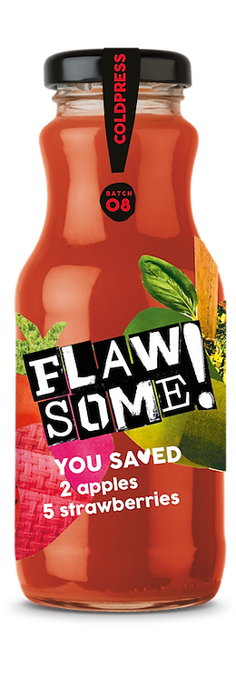 Flaw Some Cold Press Apple& Strawberry