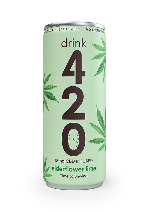 420 CBD Infused Elderflower Lime