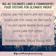 Goods and the earth are not equal. Goods